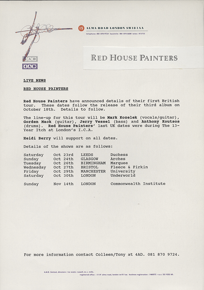 4ad Sleeve Notes